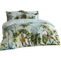 Paoletti Forsteriana Palm Tree Duvet Cover Set (Double) (Multicoloured)