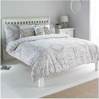 Paoletti Ionia Paisley Print 180 Thread Count Duvet Cover Set, Driftwood, Double