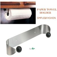 paper napkin holder stainless steel wall bracket roller under the cabinet Organizer Hanger Kitchen House Mohoo