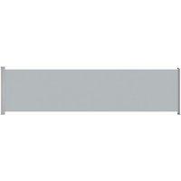 vidaXL Patio Retractable Side Awning 600x160 cm Grey - Grey