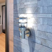 Patio Wall Light Stainless Steel Lamp - Silver