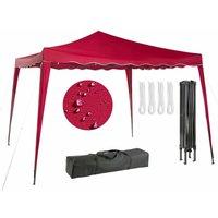 Arebos Pavillon pliable Tente de réception 3x3m rouge - rouge