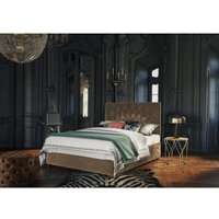 Pavo Brown Malia Double Bed Frame