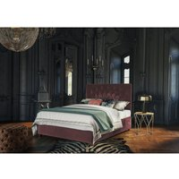 Pavo Burgundy Malia Double Bed Frame