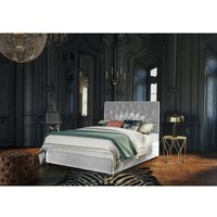 Pavo Silver Malia Double Bed Frame