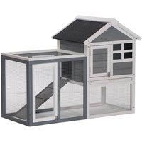 122cm Wooden Chicken Coop Rabbit Hutch Cage Pet House w/ Ladder Run - Pawhut