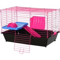 Small Animal Cage Rabbit Guinea Pig Hutch Pet Play House w/ Platform Ramp - Pawhut