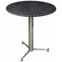 Payson 3 Legged Round Dining Kitchen Table Chrome Or Stainless Steel Frame With a Choice of Granite, Marble or Quartz Tops Chrome Star - Granite 65