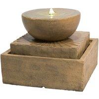 Outdoor Garden Patio Decor Tier Water Foutain Feature LED VFD8401-UK - Peaktop