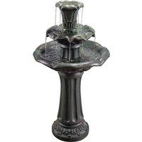 Outdoor Garden Patio Decor Water Fountain Waterfall Feature VFD8207-UK - Peaktop