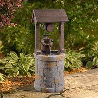Peaktop Outdoor Garden Patio Decor Wooden Well Water Fountain Feature VFD8212-UK
