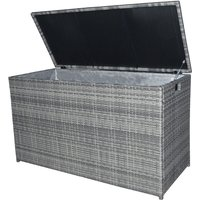 Peaktop Outdoor Garden Patio Furniture 672 Litre XL Storage Box Grey Rattan Conservatory Chest PT-OF0010G