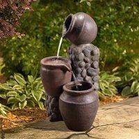 Outdoor Garden Patio Pot Waterfall Water Fountain Feature VFD8210-UK - Peaktop