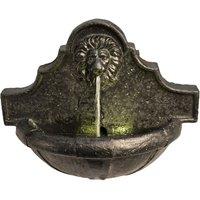 Outdoor Garden Patio Wall Lion LED Water Fountain Feature VFD8433-UK - Peaktop