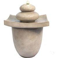 Outdoor Garden Patio Zen Tier Water Fountain Feature With LED VFD8402-UK - Peaktop
