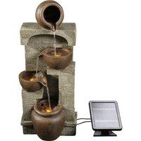 Solar Power Water Fountain Garden Bronze Water Feature Ornament Lights PT-SF0001 - Peaktop
