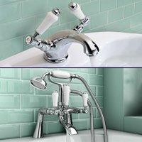 Neshome - Pegehsis Traditional Bath Filler Shower Mixer and Monobloc Tap