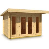 Timber Garden Trade - Pent Style Roof Log Cabin 2.5m x 3.5m x 44mm