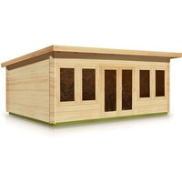 Timber Garden Trade - Pent Style Roof Log Cabin 2.5m x 5.97m x 44mm