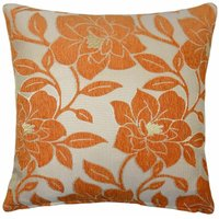 Peony 18 Orange Cushion Cover Bed Sofa Accessory Unfilled