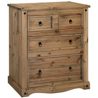 Netfurniture - Pereza Mexican Pine 2 Plus 2 Drawer Chest
