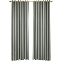 Blackout Curtains for Bedroom Grommet Insulated Room Curtains for Living Room, Set of 2 Panels (53*83in),model:Grey 53W X 83L in