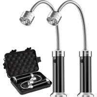 Perle rare Grill Light, Magnetic BBQ Grill Lamp Light Kit 360 Clearance Angle (2 pack, black)