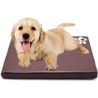 Pet Bed Waterproof Cat Dog Basket Comfortable Cushion Mattress Mat ,Dark Brown,60x45x5cm - LIVINGANDHOME