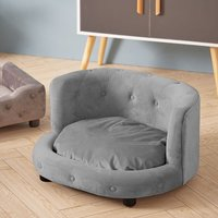 Pet Dog Cat Kitten Puppy Couch Soft Sofa Bed Cushion Mat Chair House Furniture Grey - LIVINGANDHOME