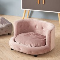 Pet Dog Cat Kitten Puppy Couch Soft Sofa Bed Cushion Mat Chair House Furniture Grey Pink - LIVINGANDHOME