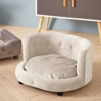 Pet Dog Cat Kitten Puppy Couch Soft Sofa Bed Cushion Mat Chair House Furniture Beige - LIVINGANDHOME