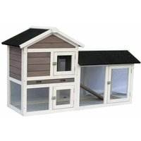 Rabbit Hutch Avoriaz White and Brown 147x53x85 cm 20098 - @pet