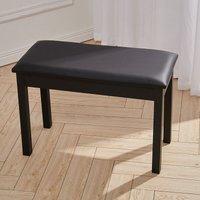 Leather Piano Stool Keyboard Bench with Storage, 50x34x70CM