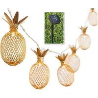 Pineapple Solar String Lights 15ft 20 LEDs Waterproof Solar Powered Fairy String Lights Hanging Lights for Outdoor Garden Patio Landscape Home