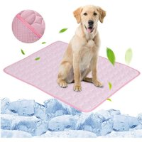 Pink Pet Dog Puppy Self Cooling Mat Cushion Summer Cool Bed, S - LIVINGANDHOME