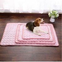 Pink Pet Dog Puppy Self Cooling Mat Cushion Summer Cool Bed, M - LIVINGANDHOME