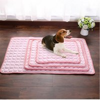 Pink Pet Dog Puppy Self Cooling Mat Cushion Summer Cool Bed, L