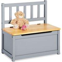 Childrens Storage Bench Fenna Grey - Grey - Pinolino
