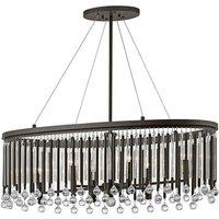 Elstead Lighting - Elstead Piper - 6 Light Ceiling Chandelier Pendant Bar Light Espresso, E14