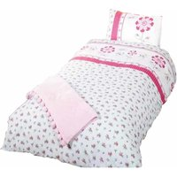 Childrens/Girls Single Duvet Cover Bedding Set (Single Bed) (Multicoloured) - Pippa