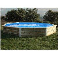 Water Clip - Piscine bois ronde - Ø 4,60 x H. 1,11 m LEYTE