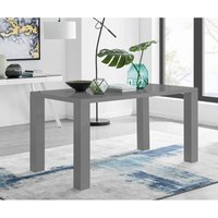 Furniturebox Uk - Pivero 6 Grey High Gloss Modern Dining Table