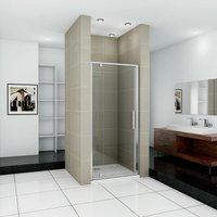 Pivot Shower Door 860x1850mm Single Door Shower Bath Enclosure Chrome Frame