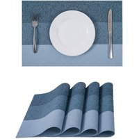 Bearsu - Placemats for Dining Table,Heat-Resistant Placemats, Washable PVC Table Mats,Kitchen Table mats.Set of 4