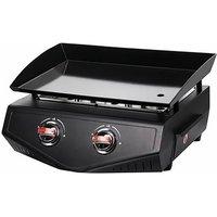 plancha gaz 5000w plaque acier email 48.8x34cm - 973.4006 - cooking box