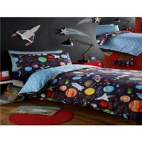 Bedmaker - Planets Single Bed Duvet cover and 1 Pillowcase Bed Set Bedding Boys