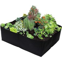 Briday - Plant Grow Bags 30 Gallons 4 Grids Square Heavy Fabric Raised Garden Bed Pot for Vegetable, Large Durable Breathe Cloth Planting Container