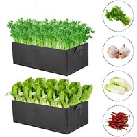Plant growing bag, non-woven fabric planting bags with handles, breathable and durable potatoes, strawberries, flowers and garden vegetables, Pack of