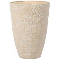 Beliani - Flower Planter Tall Stone Garden Plant Pot Indoor Outdoor Beige 51x71 cm Camia