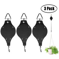 Plant Pulley Retractable Heavy Duty Easy Reach Plant Pulley Adjustable Hanging Flower Basket Hook Hanger for Garden Baskets Pots and Birds Feeder